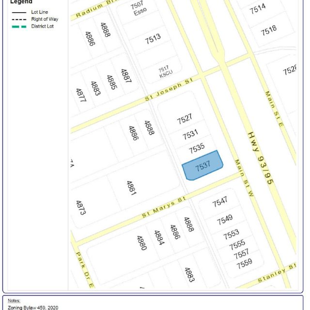 Notice of Proposed Zoning Amendments for Bylaw 459