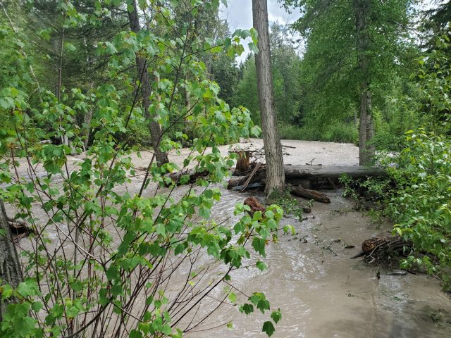 Sinclair Creek Trail is closed due to flooding